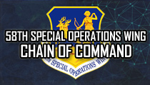 58th Special Operations Wing Chain of Command
