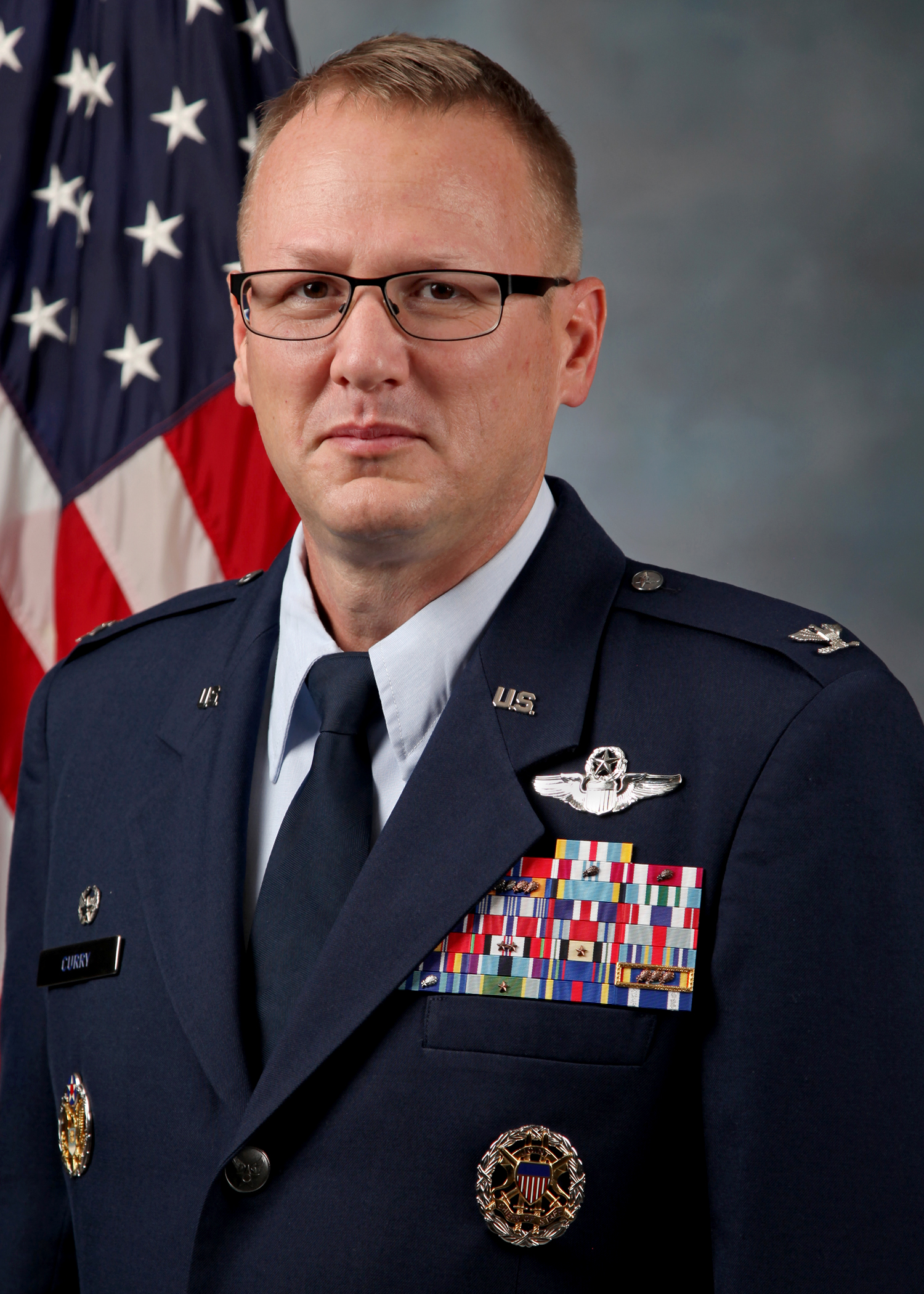 Portrait photo of Col. Curry